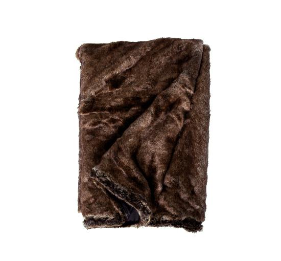 Aspen brun pälspläd 3