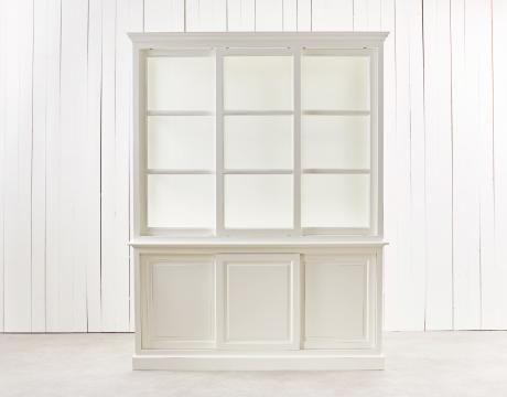 Assonet vitrinskåp vit 5