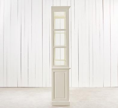Assonet vitrinskåp vit 4