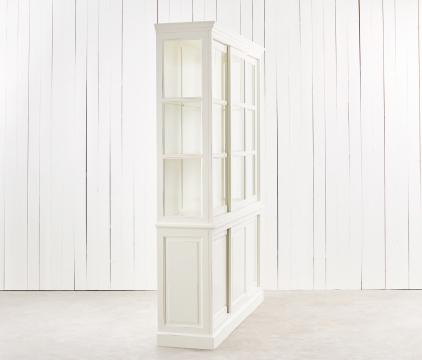 Assonet vitrinskåp vit 2