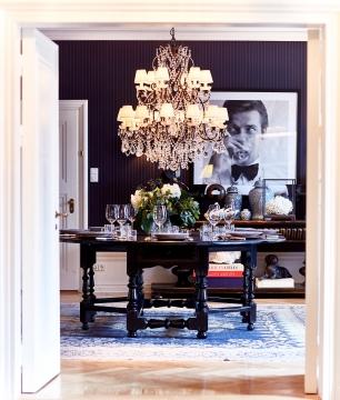Balmoral matbord svart 200cm 5