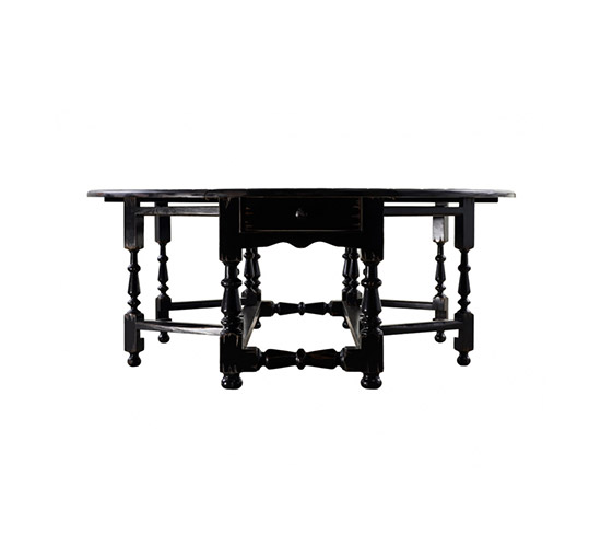 Balmoral matbord svart 200cm