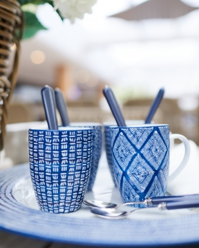 Capri Azzurra muggar blå/vit 5