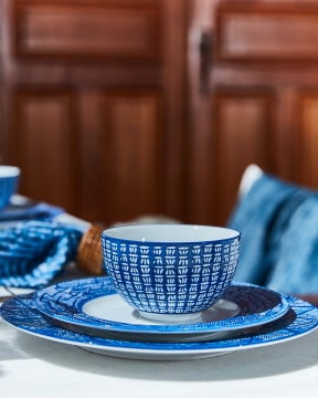 Capri Azzurra skålar blå/vit 1